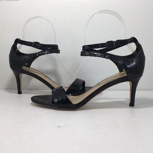 Via Spiga Tiara Black Shiny Landsnake Sandals